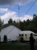 Nochmal komplett mit Ralf´s, DL1KRK Wohnmobil als Halter für den 10m Mast