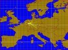 70cm Karte mit den erreichten Ländern
